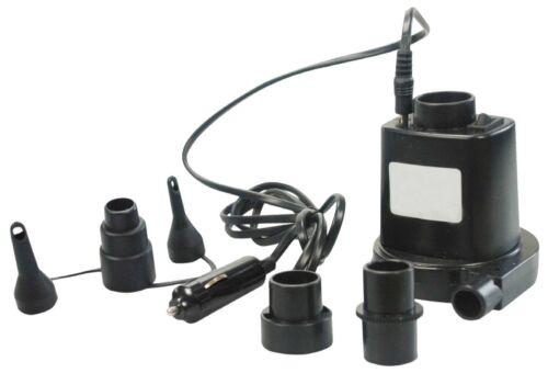 New 12v rapide pompe à air électrique airbed airpump fast free post voiture tableau de bord plug