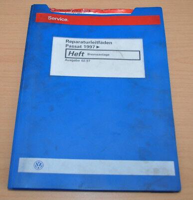 Enthousiast Vw Passat B5 1997 Bremsanlage Werkstatthandbuch Leitfaden Gemakkelijk Te Smeren