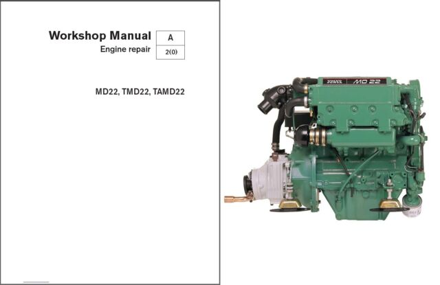 Volvo Penta MD22, TMD22, TAMD22 Marine Engines Service Manual on a CD  -   MD 22