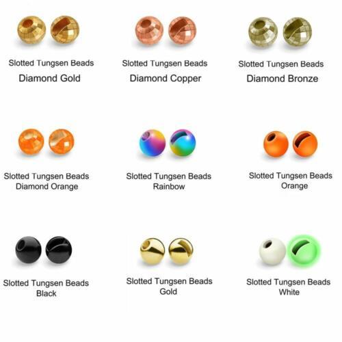 Maxcatch 25 Stk Tungsten Geschlitzte Perlen Slotted Beads Fliegenbinden Material