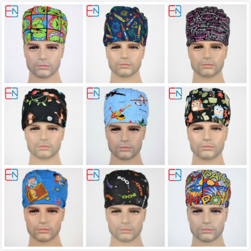 medical surgical skull chem scrub caps//hats-pixie-plane-fox-olws-limited edtion