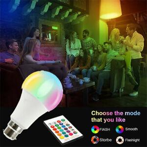 Ampoule-RGB-Led-Lumiere-B22-E27-16-couleur-Telecommande-Lampe-a-vis-a-baionnette