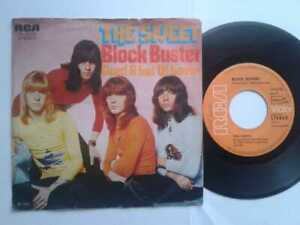 The-Sweet-Block-Buster-7-034-Single-Vinyl-1972-mit-Schutzhuelle