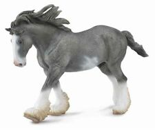 Black Sabino Roan Clydesdale Stallion Horse - Play Animal by Breyer (88620)