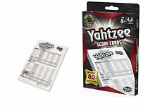 Yahtzee Score Cards 80 Official Sheets Pads Hasbro NEW Toys