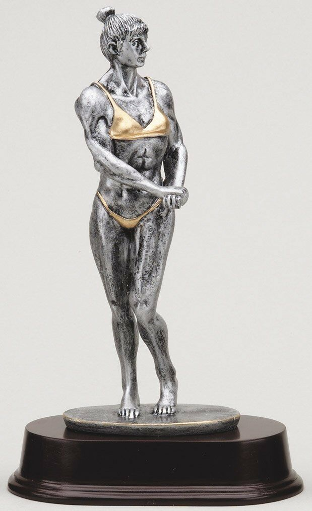 BODYBUILDING TROPHY Female Resin Sculpture Trophy Award FREE Engraving