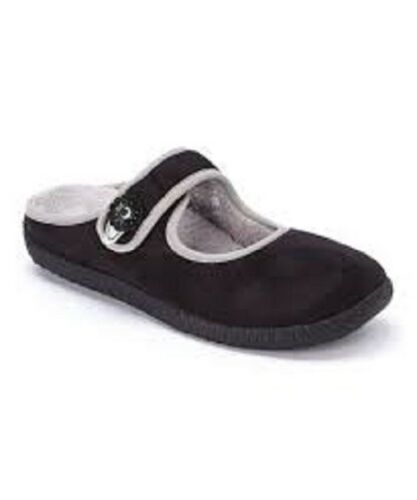 Vail Black Orthaheel by Vionic Mary Jane Slippers