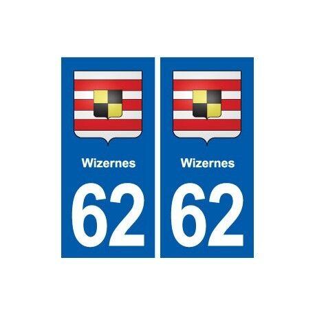 62 Wizernes blason autocollant plaque stickers ville droits