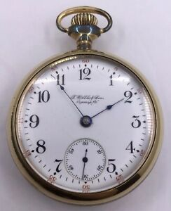 w266 Vintage Working 1904 Open Faced Illnios Pocket Watch Crease-Resistance