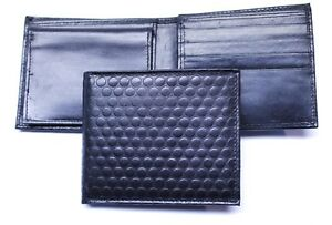 75881abcc75f Details about Textured Leather Billfold Wallet RFID Safe - Black Leather