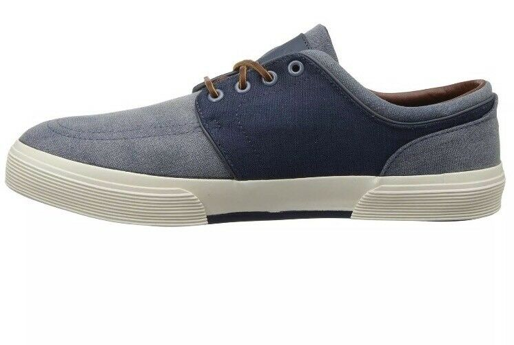 Polo Ralph Lauren Men's Faxon Navy Perforated Sneakers Size 7.5 D
