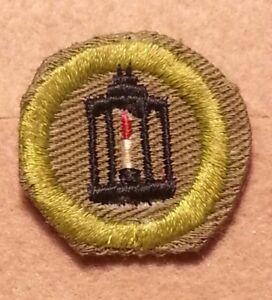 BSA FORESTRY Merit Badge Type E 1947-1960 CRIMPED NARROW BORDER   A00547