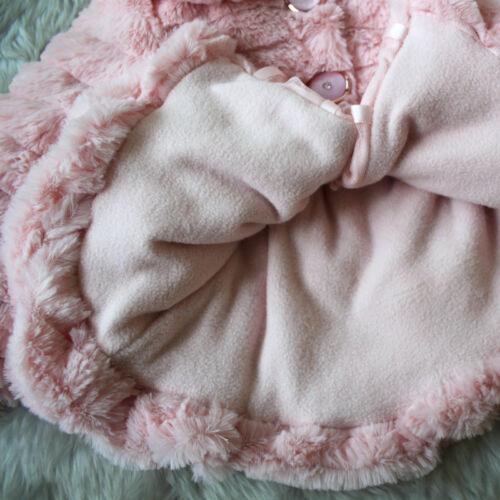 Baby Mädchen Kinder Jacken Mäntel Fleecejacke Pelz Wintermantel Kunstfell Parka