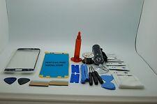Samsung Galaxy S6 Edge Blue Front Glass, Screen Repair Kit, Wire, Glue, Torch