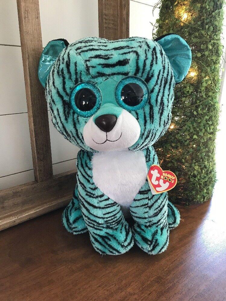 Ty 2015 justiz exklusive tess der tiger - jumbo  - nwnmt mütze.