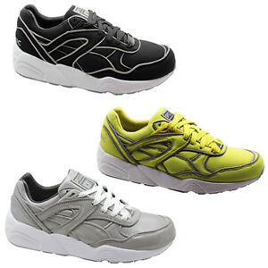a4bfd56f75ecd9 Puma Trinomic R698 ICNY Mens Trainers Shoes Black Yellow Silver ...