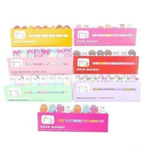 2X-Cartoon-Animal-Sticker-Livraison-Signet-Marqueur-Memo-Index-Onglet-Note-Lizzj