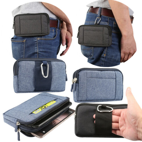 Belt Clip Loop Holster Case Cover Universal Fabric Pouch Holder for Mobile Phone