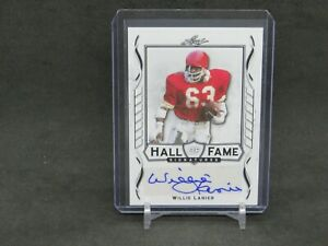 2021 LEAF SIGNATURE SERIES WILLIE LANIER HALL OF FAME AUTO CHIEFS DLNH