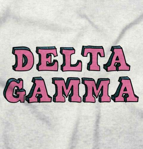 Licensed Sorority Fashion Delta Gamma DG Gift Long Sleeve T-Shirts Tee For Women