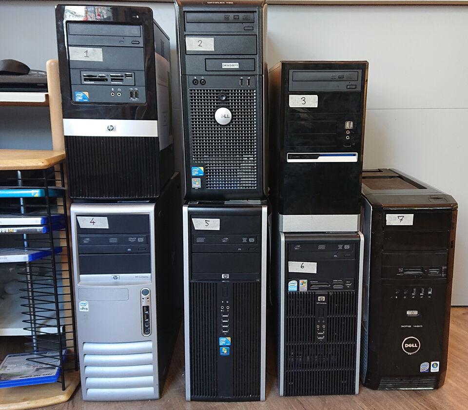 Istandsatte stationære computere til salg, fler...