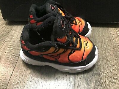 Nike Air Max Plus Black Orange Bv5975 001 Size 4c Ebay