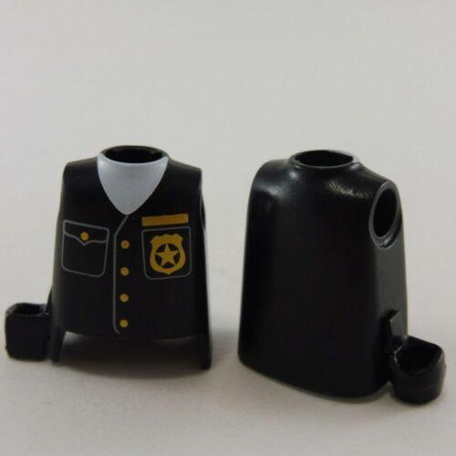 24779 Playmobil Lot de 2 Bustes Police Noirs avec Holster