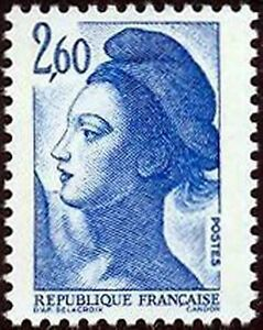 """Francia N º 2221"""" Libertad De Delacroix 2F60"""" Neufxx Muy Buen Estado"""