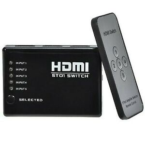 Multiprise-HDMI-5-Entrees-1-Sortie-1080P-Switcher-Telecommande-IR