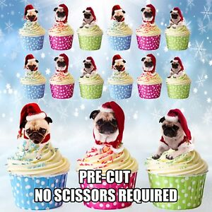 Kitchen, Dining & Bar Other Baking Accessories Pug Dog Edible Cake Topper Image Cake Decoration Cupcakes Pug Puppy Cake Edible