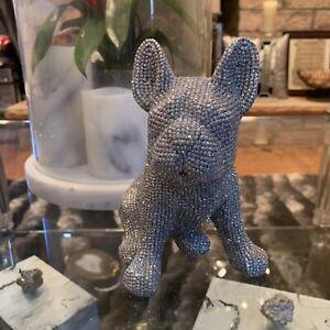 Sparkly-Frenchie-Buldog-Figurine-Statue-New