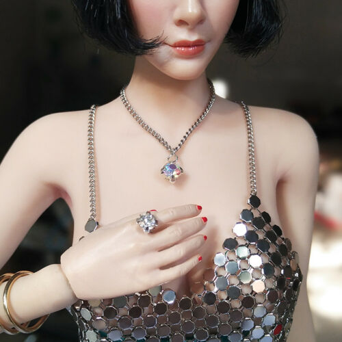 "Kinds of 6 1:6 Scale Necklace Diamond Ring For 12/"" Female PH TBLeague Body"