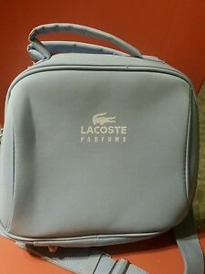 5a5fa3f45 Image is loading LACOSTE-TRAVEL-SHOULDER-BAG-MAKEUP-OR-ANYTHING-BABY-