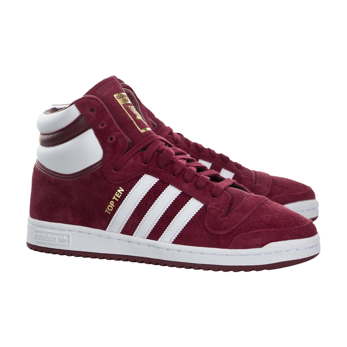 Adidas Men Ten Athletic Shoes Originals Top Ten Men Hi Sneakers Burgundy 09ebb5