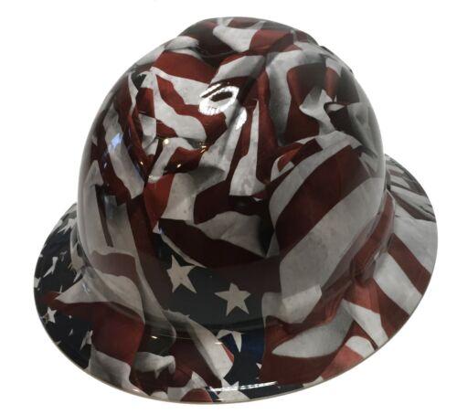 Hard Hat Ridgeline Hydro Dipped FB Custom Vintage American Flags W// T-Shirt