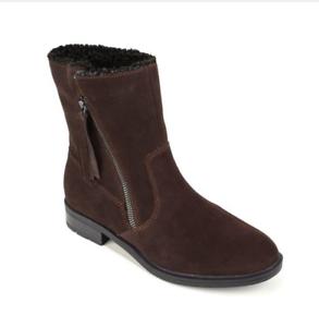 Sporto, Girl  Water-Resistant Suede Tassel Boot in Chocolate 6.5 M