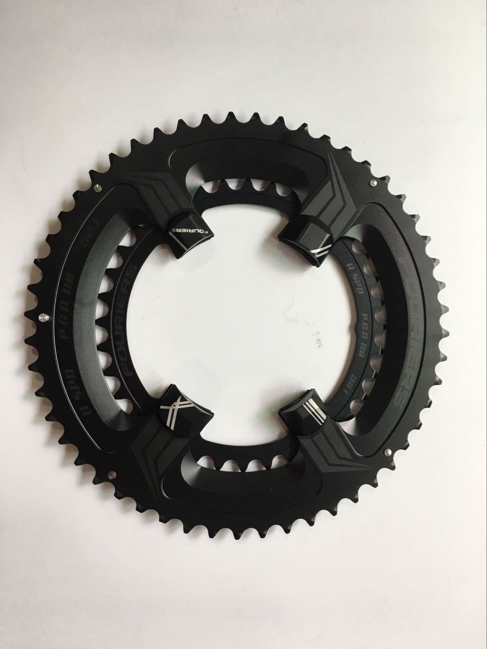 Fouriers BCD110 Doble Bicicleta 34 50T Plato Para Shimano 5800 6800 Manivela Negro