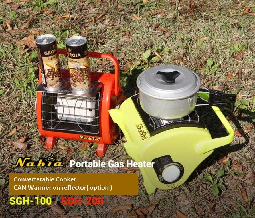 NABIA Portable Gas Heater 100 SGH 100 Heater / SGH 200 Convertable Cooker Small & Powerful 2a3fe7