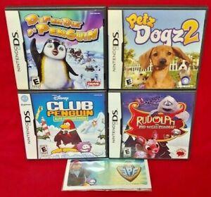 Petz-Dogz-2-Club-Penguin-Rudolph-Defendin-de-Game-Lot-Nintendo-DS-Lite-3DS-2DS