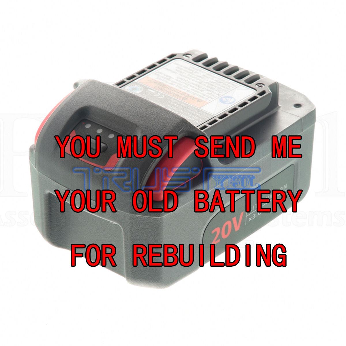 Rebuild service for Ingersoll Rand 20 Volt BL2010 Rebuilt to 2.0 A H Li-Ion