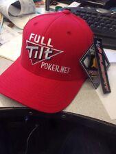 (2) Full Tilt Poker Flexfit Hats S/M