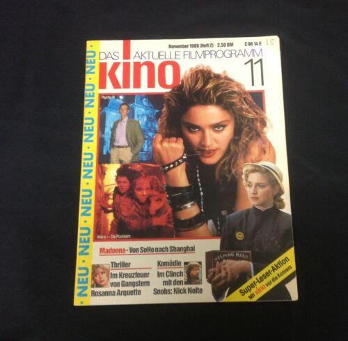 """Nov. 1986 Das Aktuelle Filmprogramme Kino """"Madonna"""" Issue German Magazine"""