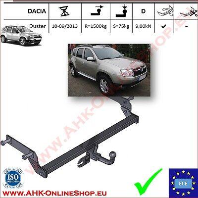 Gancio di traino fisso Dacia Duster 2010-2013 OMOLOGAZIONENUOVO