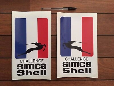 Sincere Autocollants Simca 1000 Challenge Simca Shell Complete Range Of Articles Autres