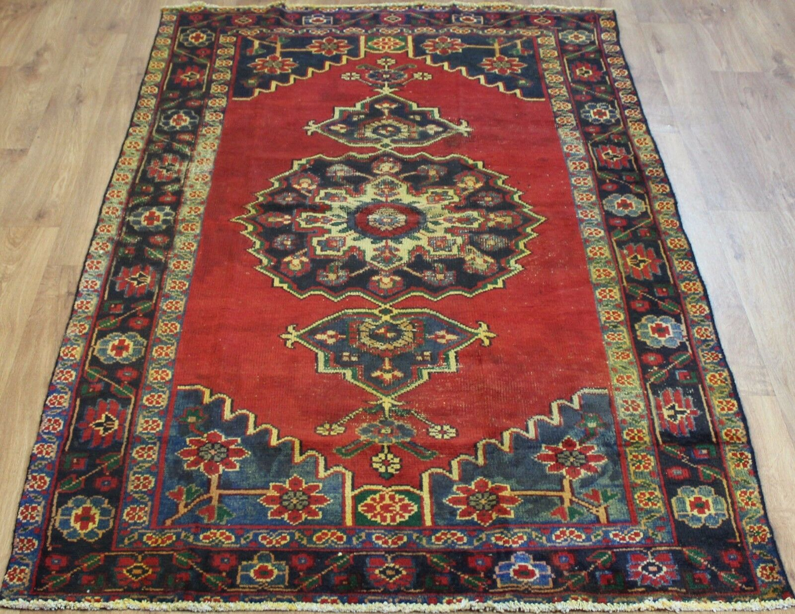 Persiano Tradizionale Lana Vintage 227cmX128cm Tappeto orientale orientale orientale fatto a mano Carpet Rugs fd081c