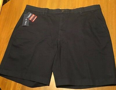 """New Mens Chaps Classic Stretch Twill Flat Front Shorts 9/"""" Inseam Retail $55"""