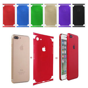 For iPhone X 8 8+ 7 6 6s Full Body Candy Color Decal Sticker Wrap ... 4d7ec6d48b