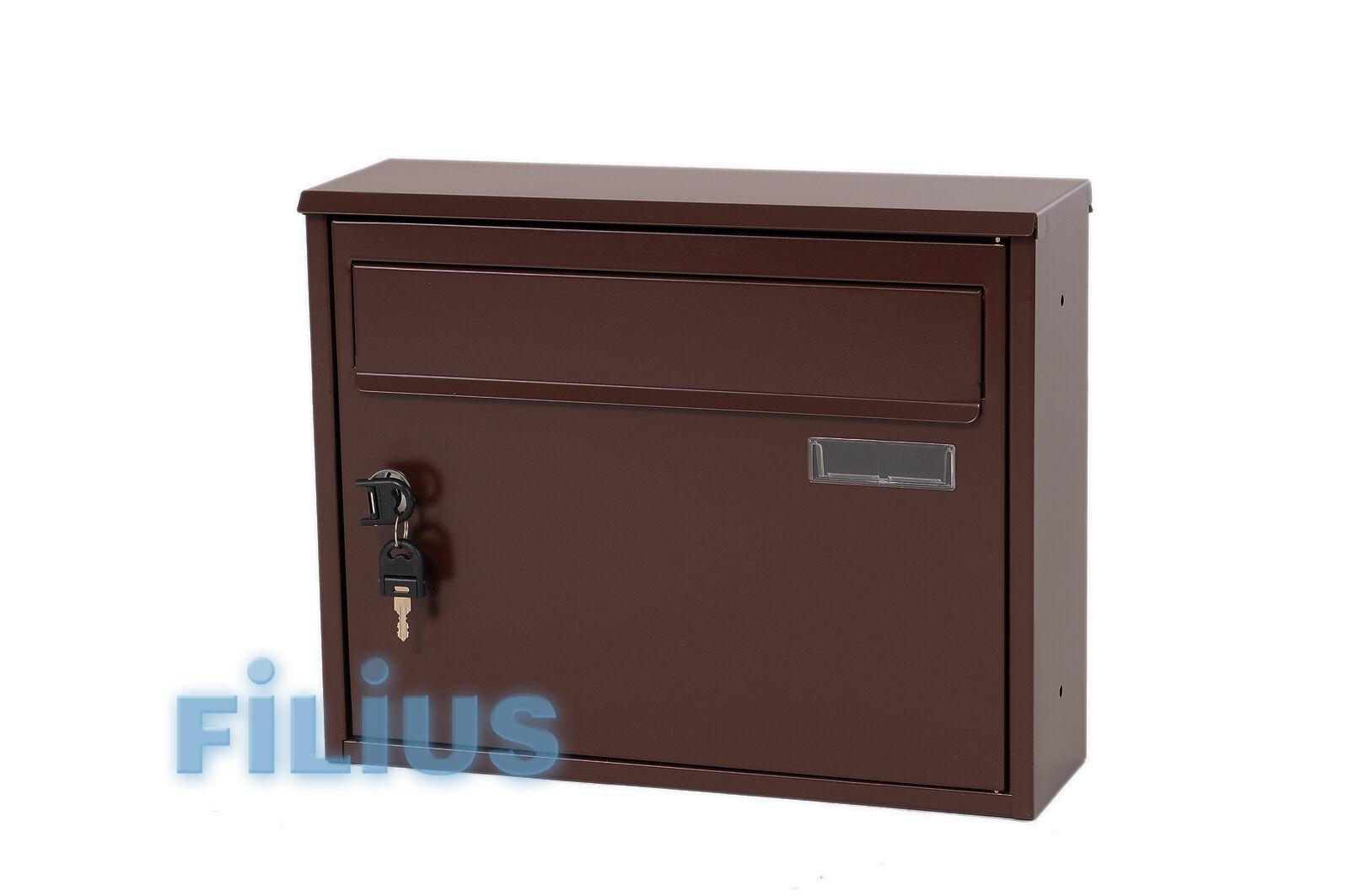 Zaunbriefkasten FK1  Briefkasten RAL 8017 (schokoladenbraun) braun
