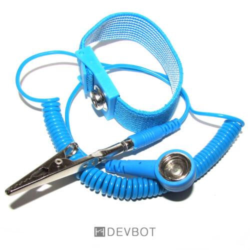 Bracelet antistatique Bleu Raspberry Arduino DIY fiche banane ou crocodile
