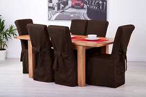 Set-of-6-Chocolate-Fabric-Dining-Chair-Covers-for-Scroll-Top-High-Back-Leather